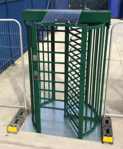 image of solar powered turnstile