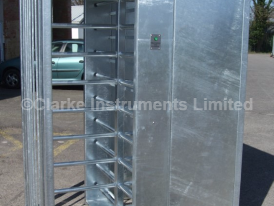 491C-202 Single Fenceline Turnstile