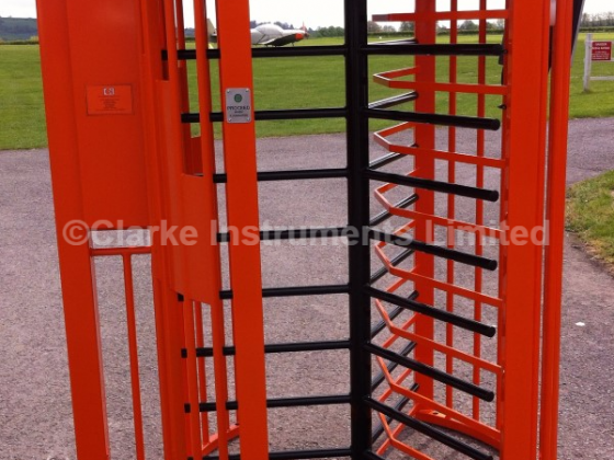 493-201 Single Airlock Style Security Turnstile