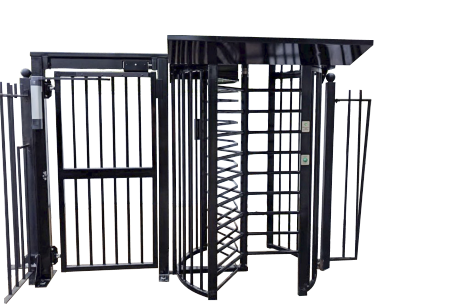 480B – 201 Single Turnstile (type 480B – 200) with Pedestrian Gate (type 188A – 200)
